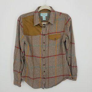 Tasha Polizzi Western Plaid Flannel Button Down Shirt